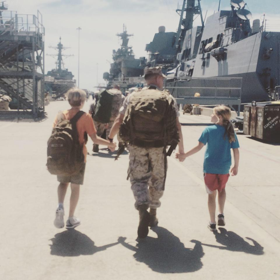 Marine's wife recalls range of emotions during husband's deployments: 'Everyone is cracked wide open and wrecked'