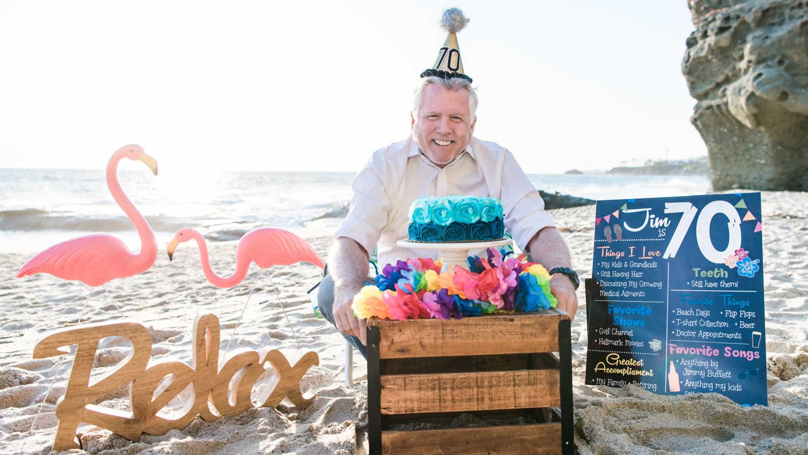 Dad celebrates 70th birthday with epic Jimmy Buffett-themed