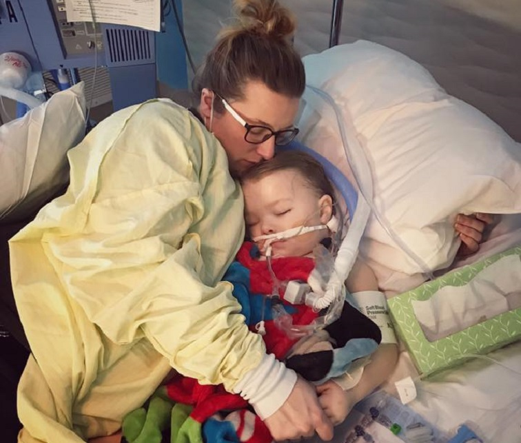 flu update mom warns of 3 year old son s traumatic complications