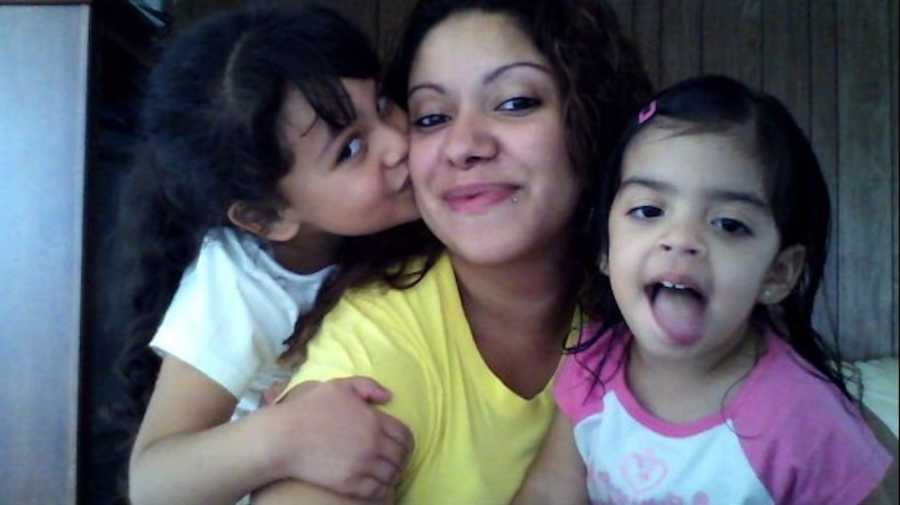 Woman and her two daughters
