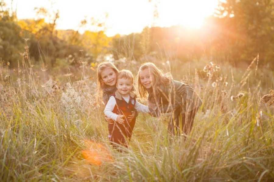 Blended family siblings