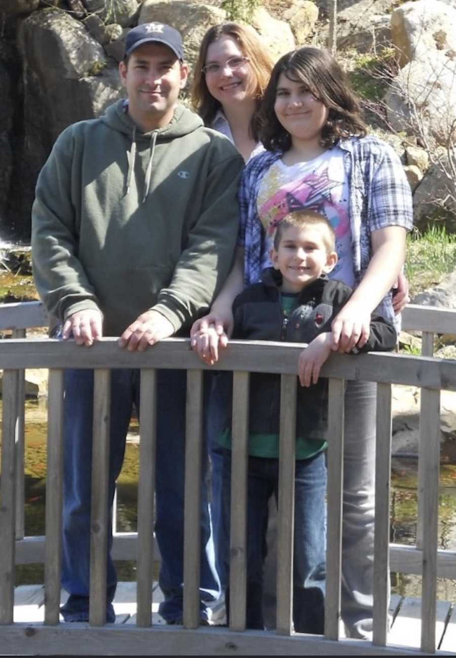 family portrait outside
