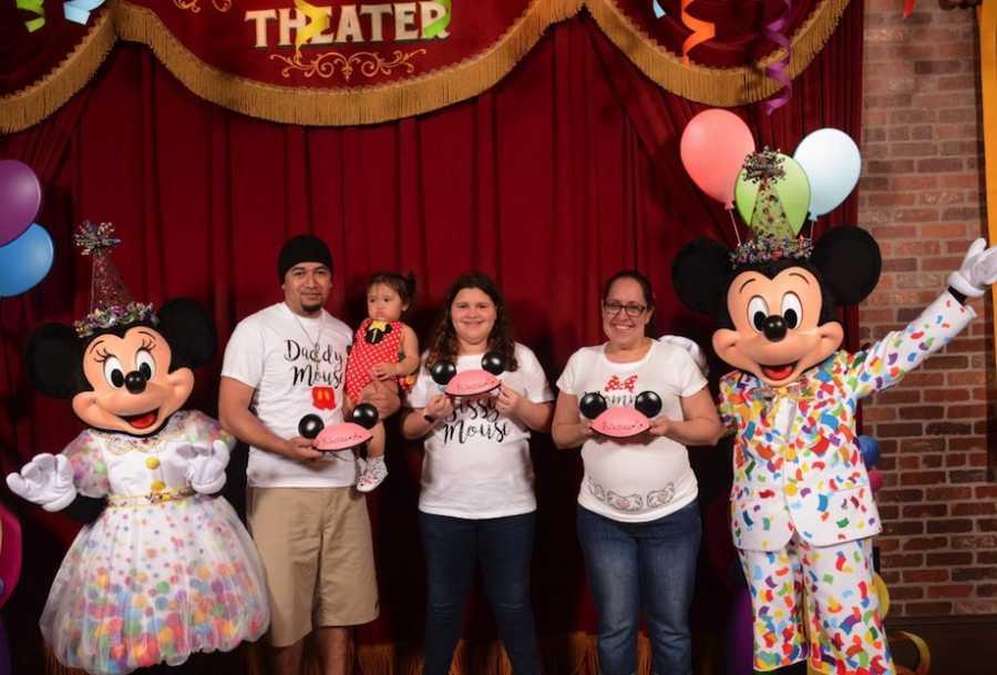 Gender reveal at Disney