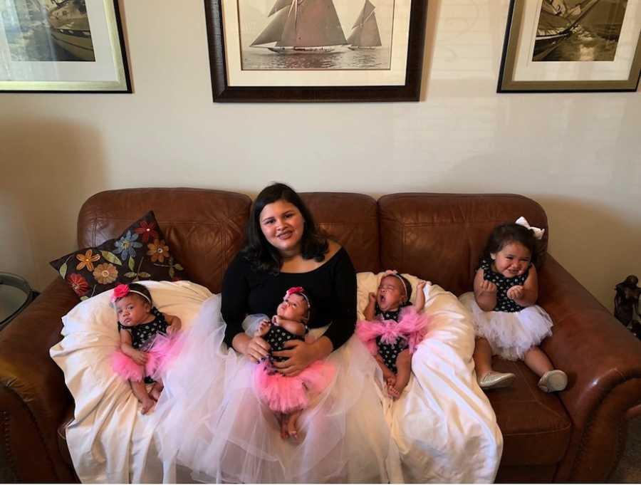 5 sisters in ballet dresses