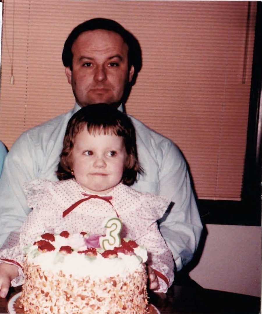 Dad and daughter at birthday party