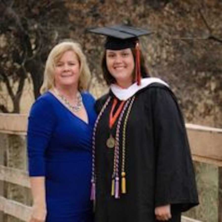 mom and daughter on graduation day