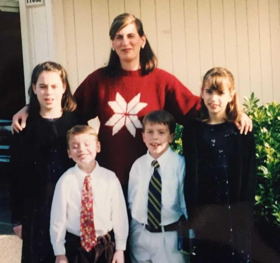 family portrait outside, fancy clothes