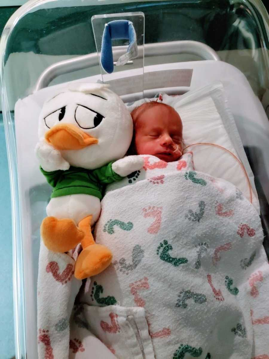 Triplet one with Green Louie duck from Disney