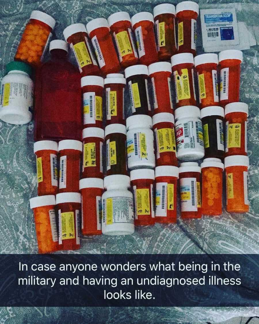 medications lined up