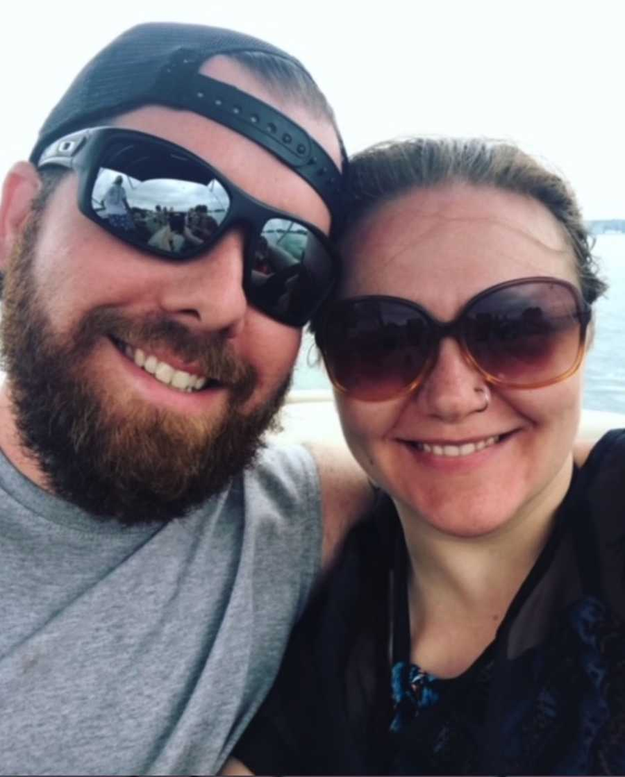 Couple selfie with sunglasses