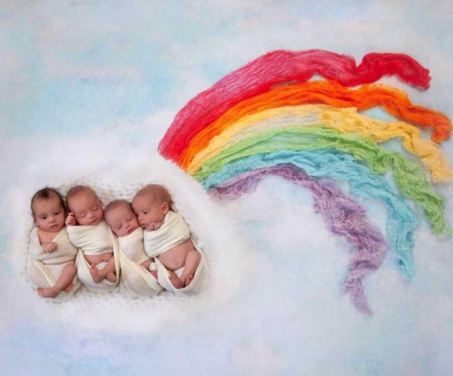 Rainbow babies quadruplets