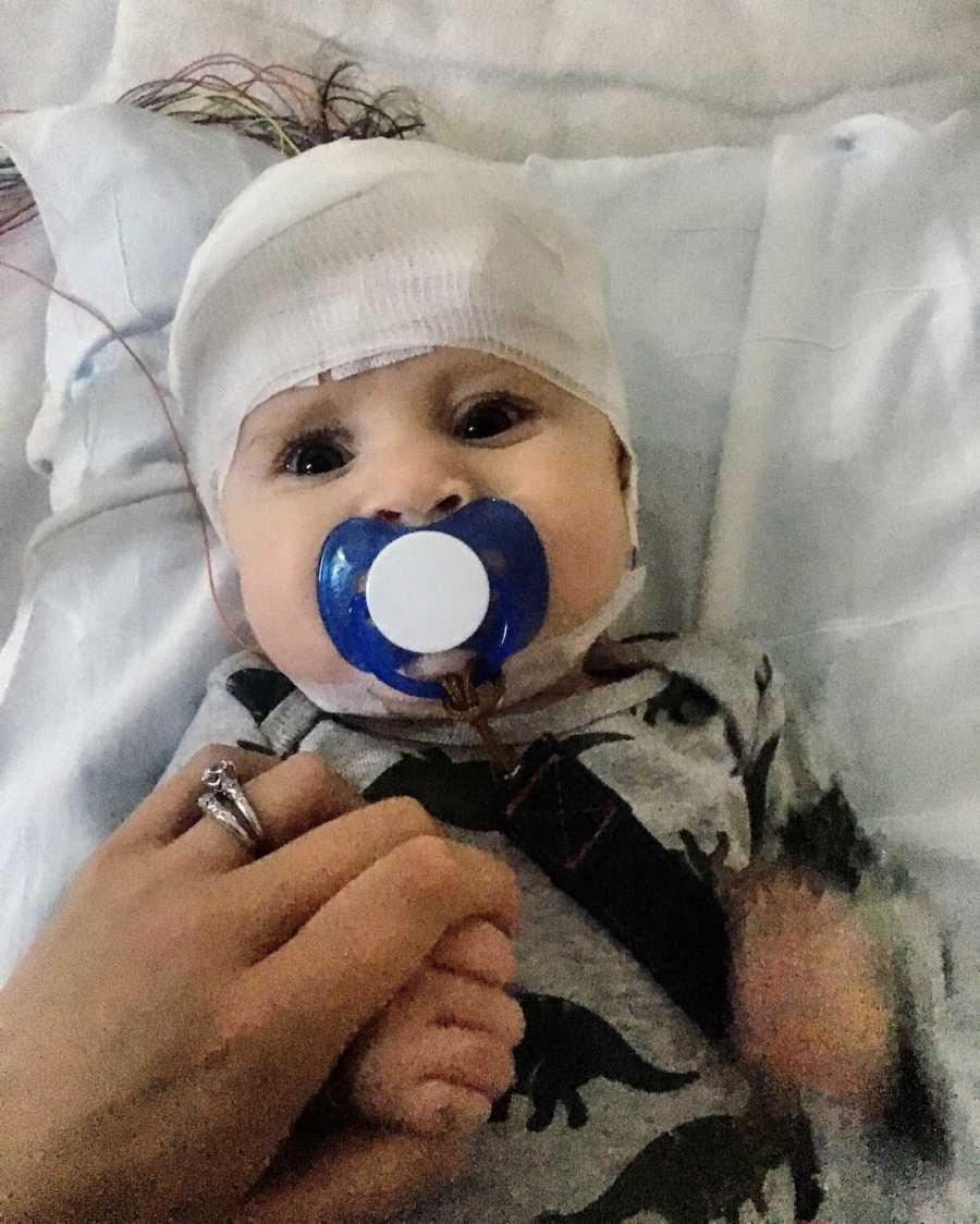Baby boy in hospital