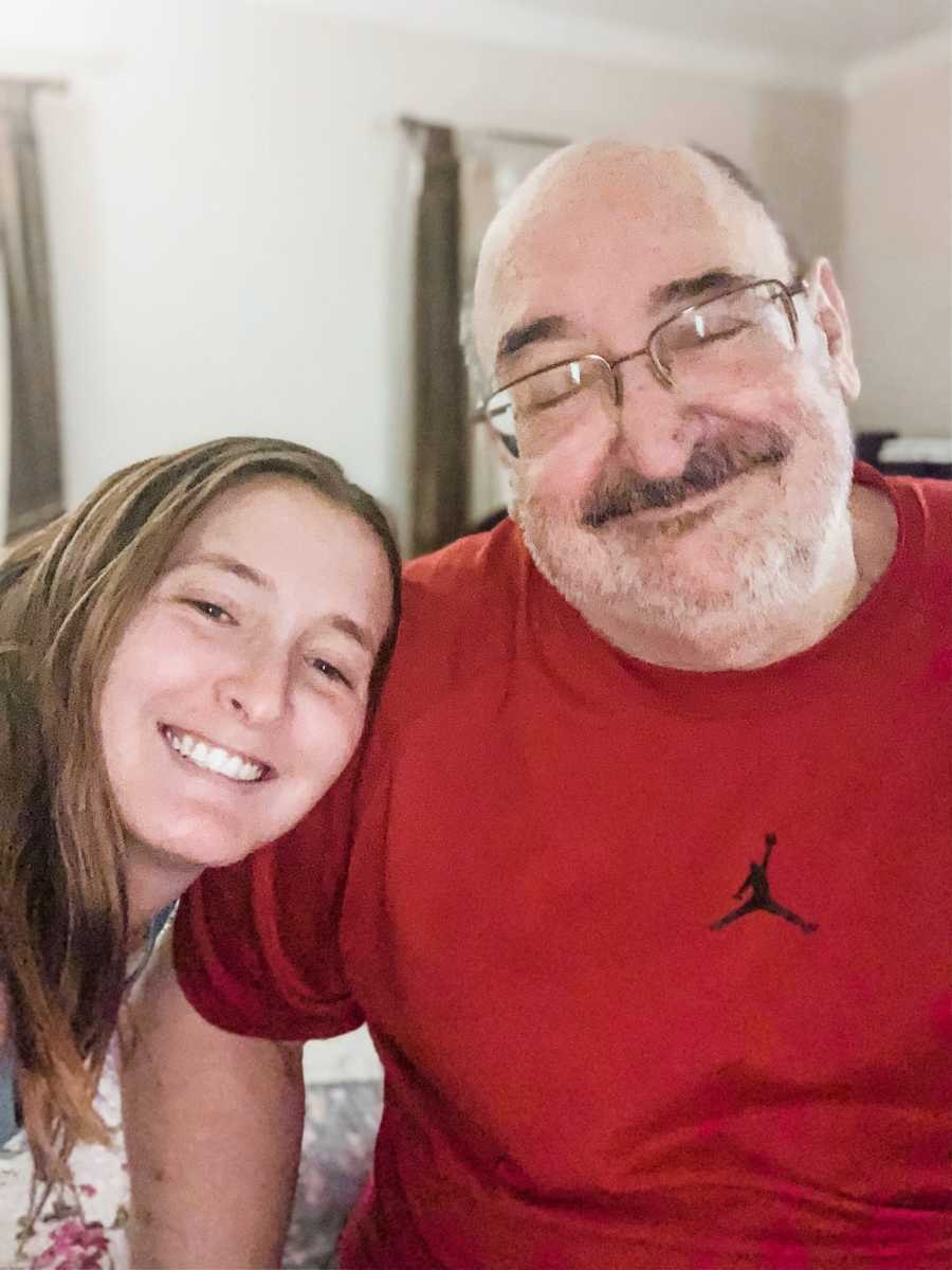 A disabled woman and her father