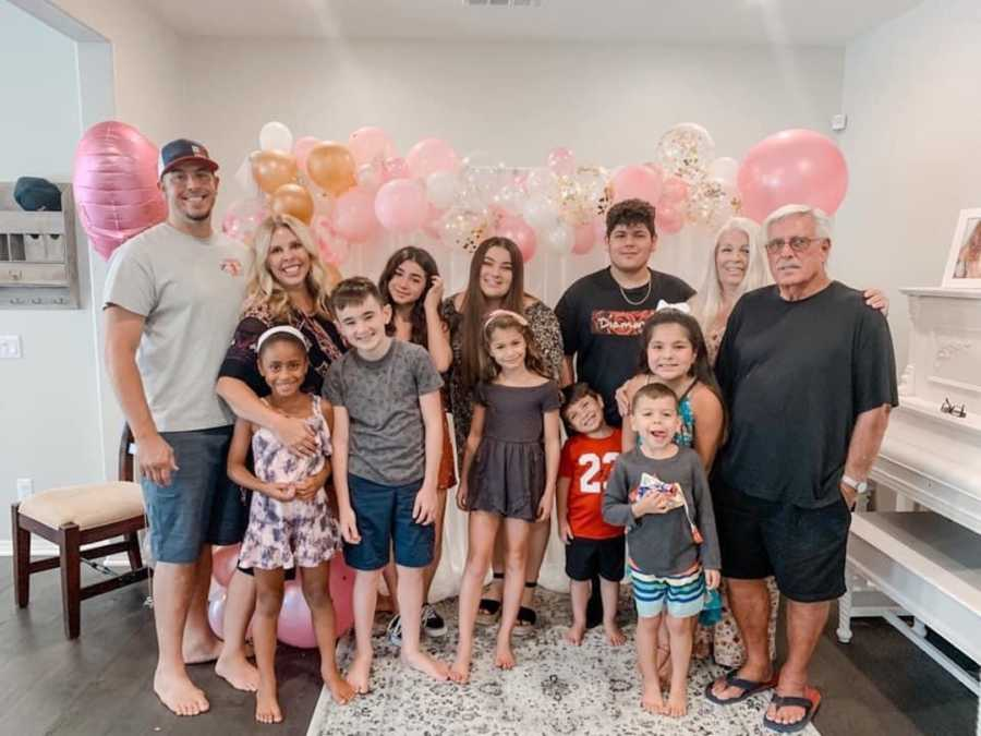 family photo everyone happy