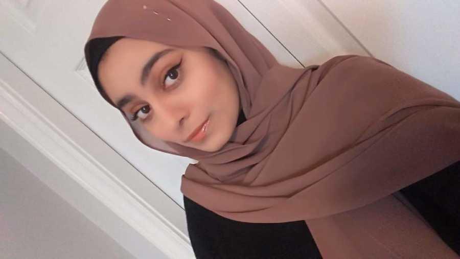 young woman in a hajib