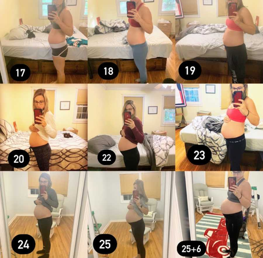 10 weeks of pregnancy belly pictures