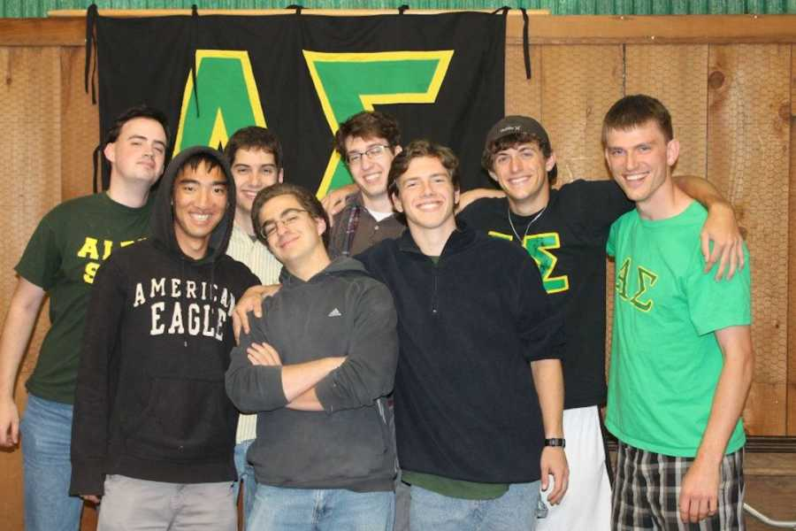 college fraternity photo