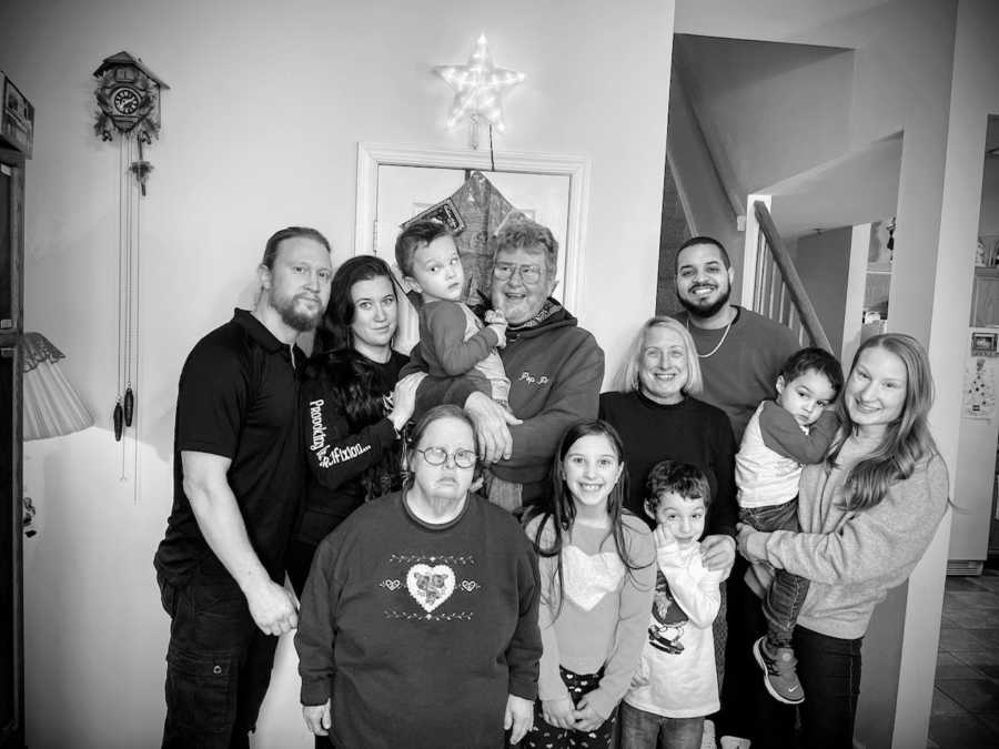 Family with autistic son and supportive friends