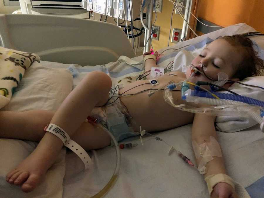 A two-year-old boy in the hospital after a near-drowning experience