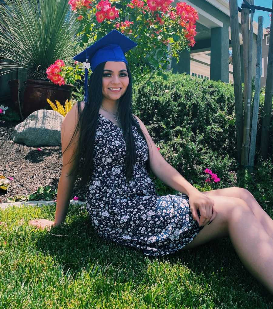 girl in graduation cap