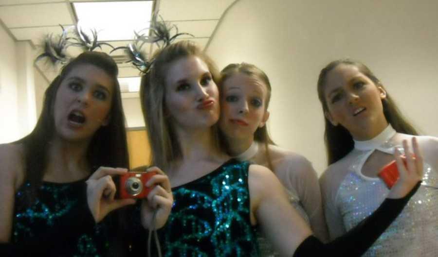 group of dance girls