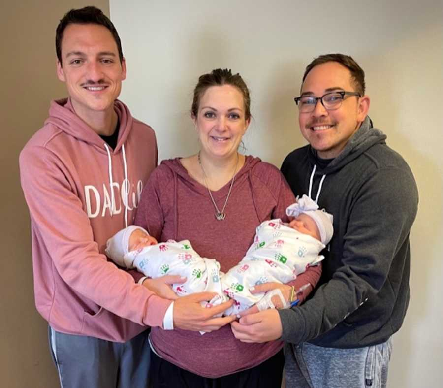 dads with twins and surrogate