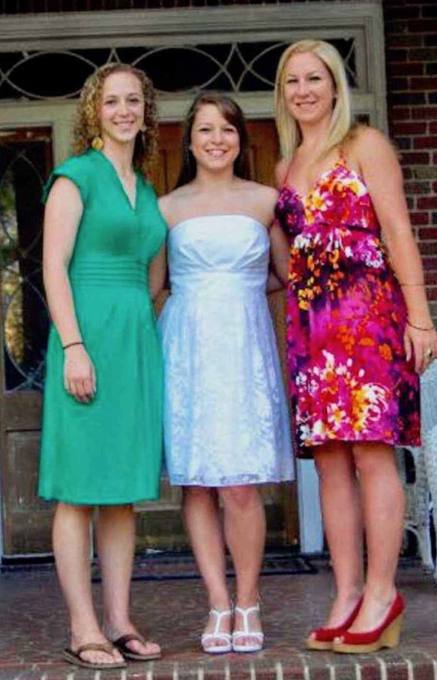 Three girls in dresses