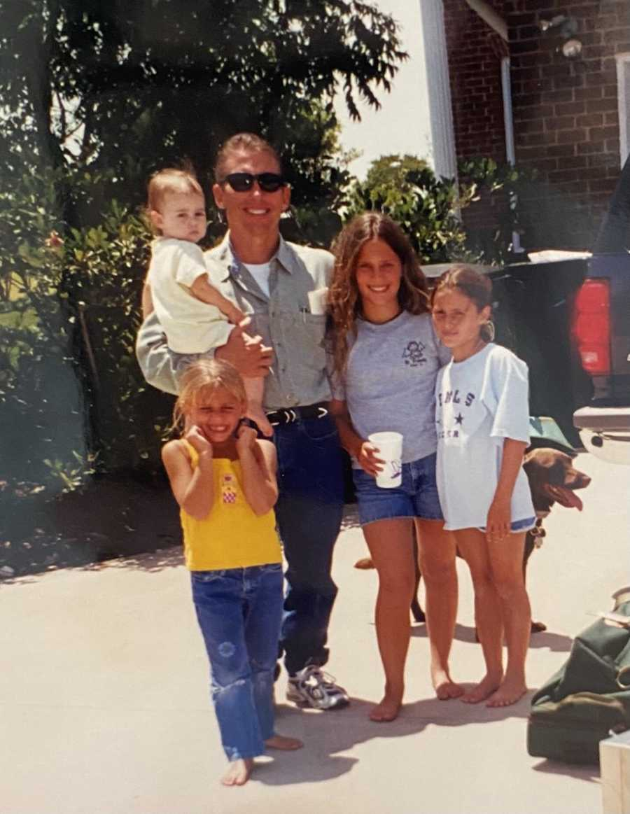 Dad with four daughters