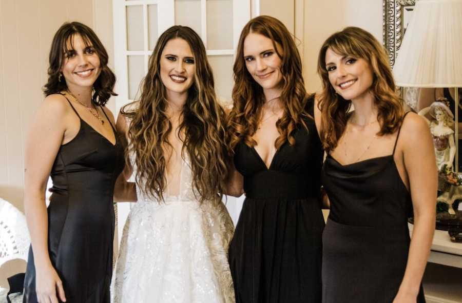 Sisters at wedding