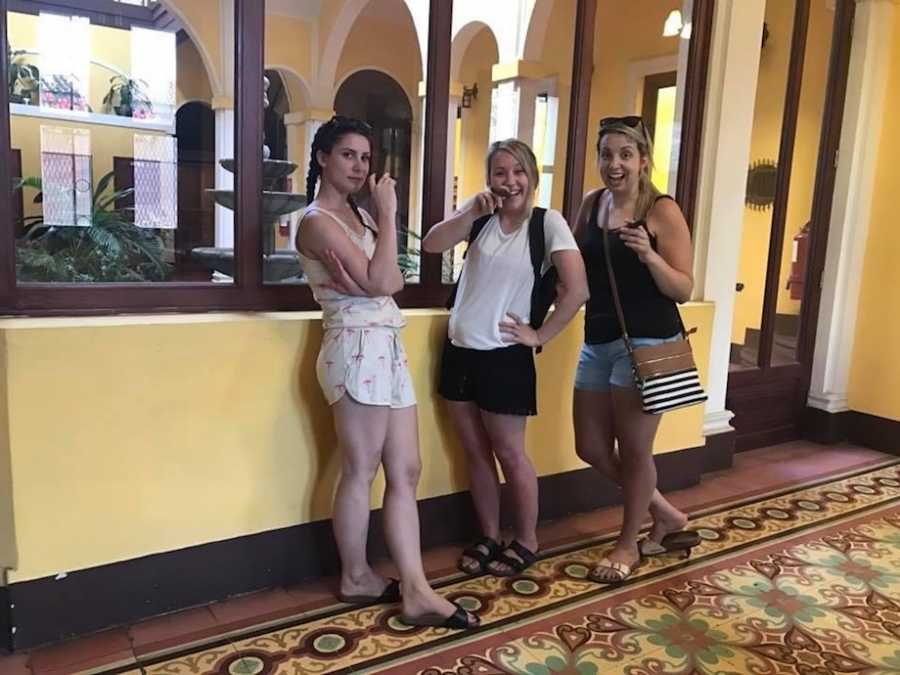 Friends arriving in Nicaragua