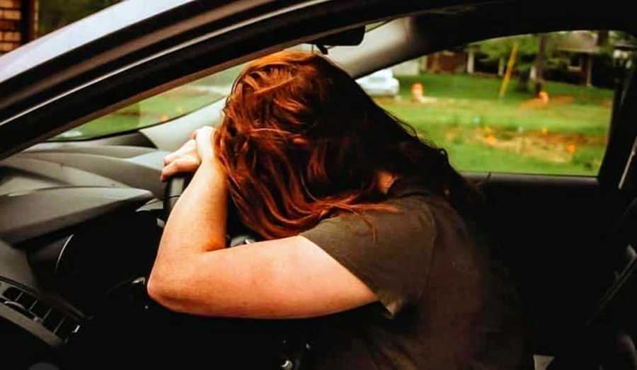Woman with OCD battles intrusive thoughts while trying to drive