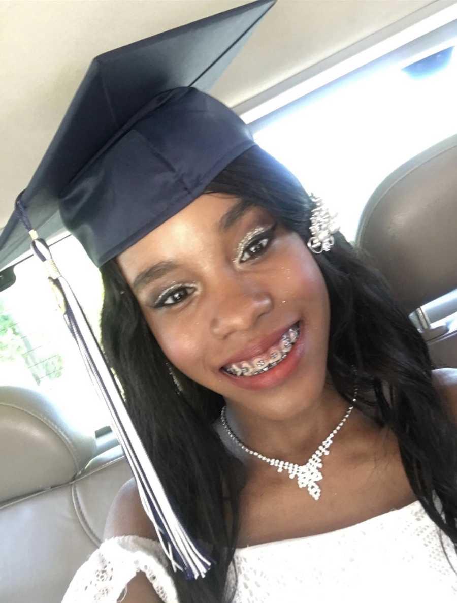 person in graduation cap