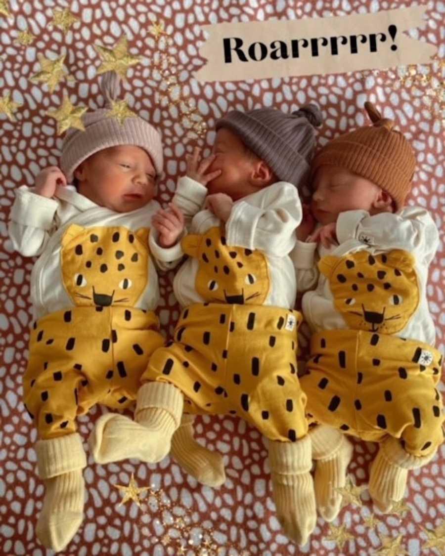 Rainbow triplets