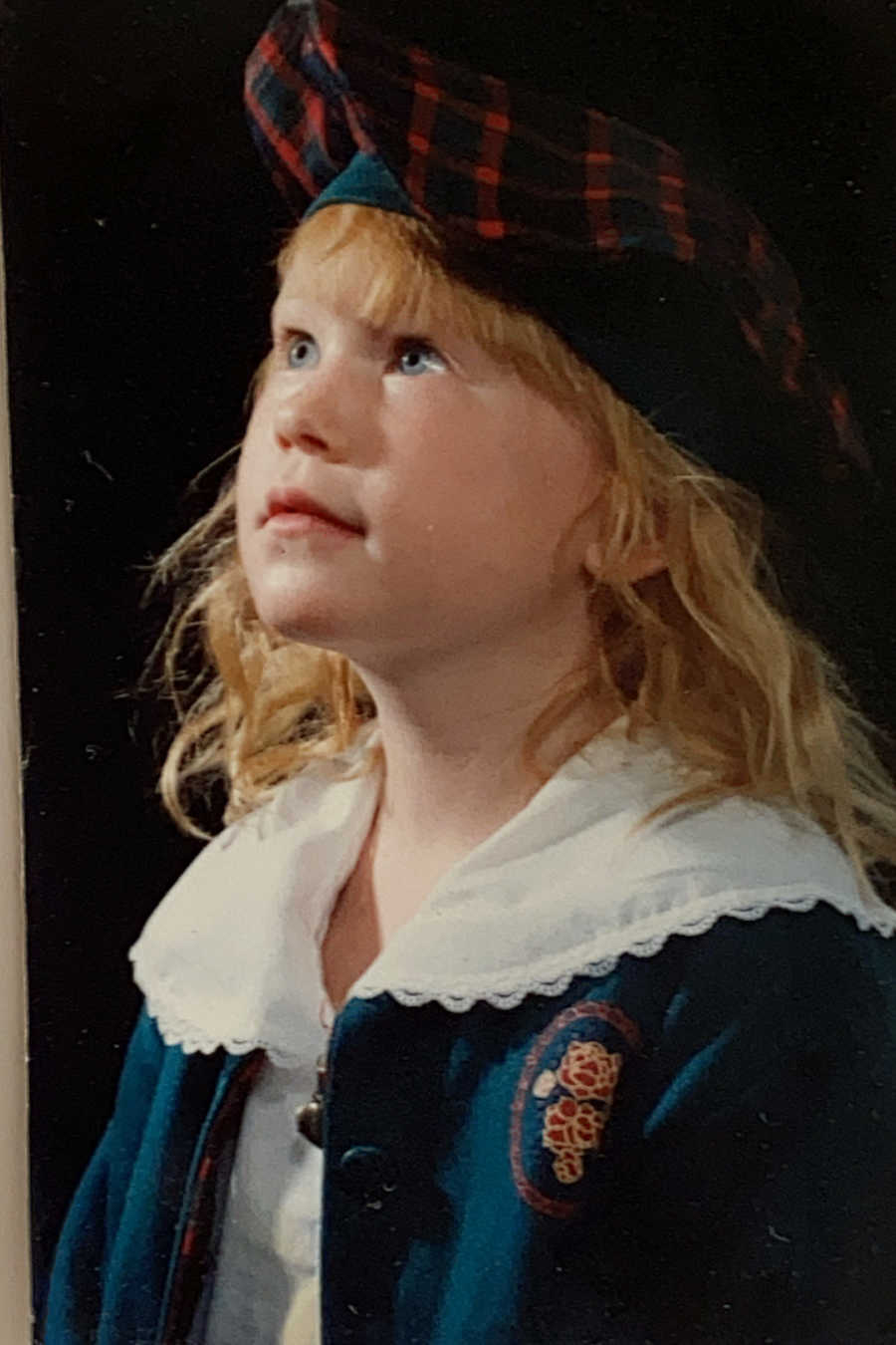young girl in costume