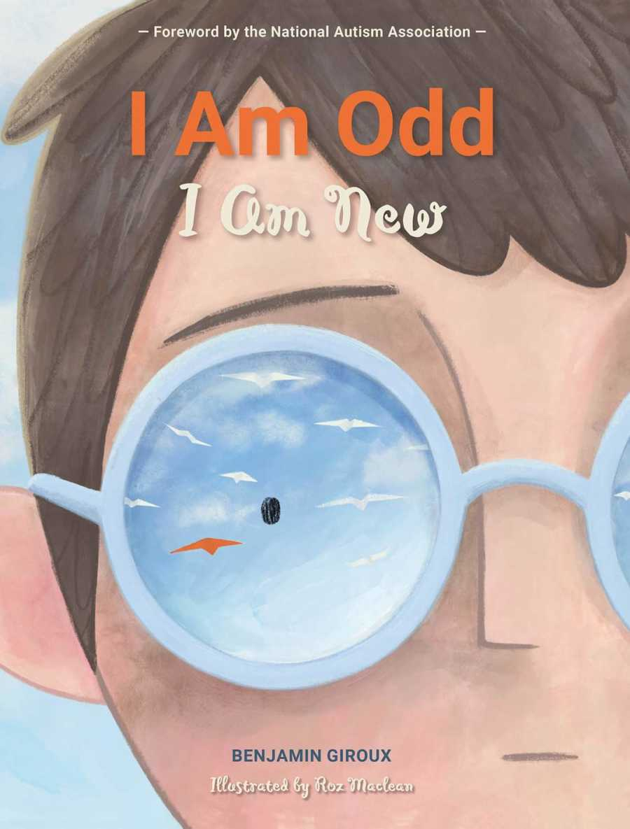 """Cover for poem """"I Am Odd I Am New,"""" written by Benjamin Giroux, a young boy with autism"""