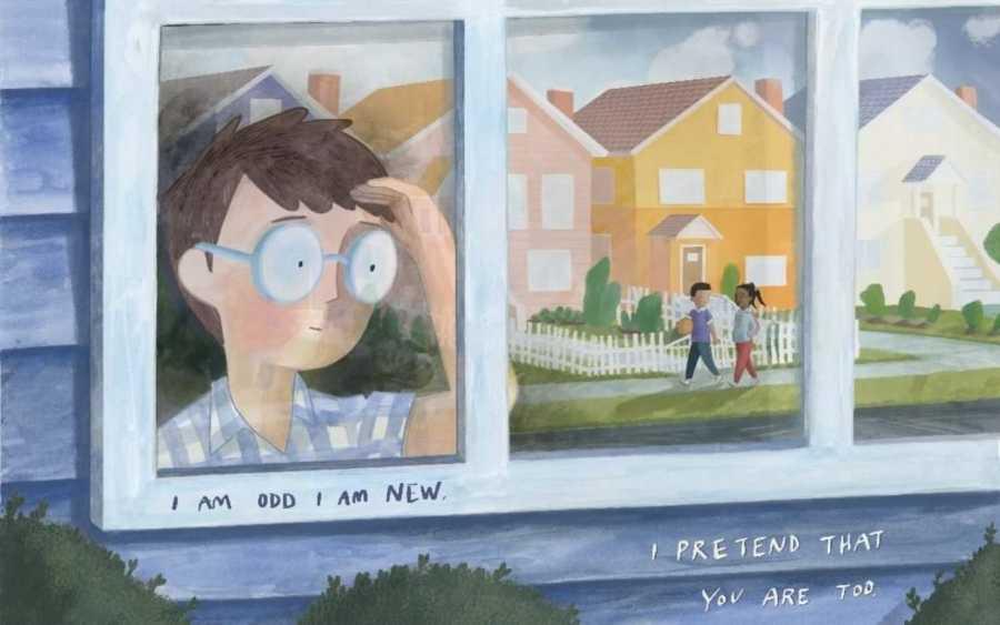 """Illustration from Benjamin Giroux's published poem, """"I Am Odd I Am New"""""""