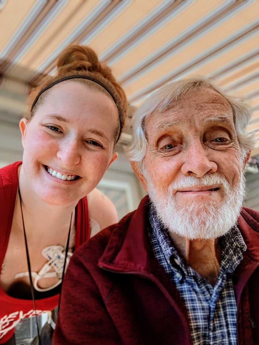 A disabled woman and her grandfather
