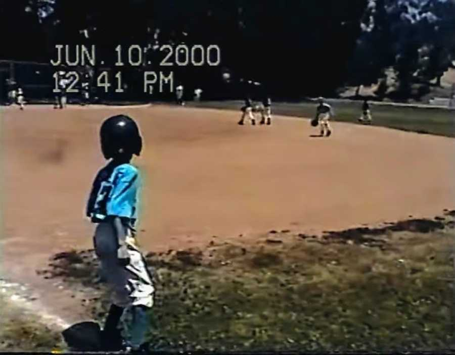 Photo of a young child's baseball game