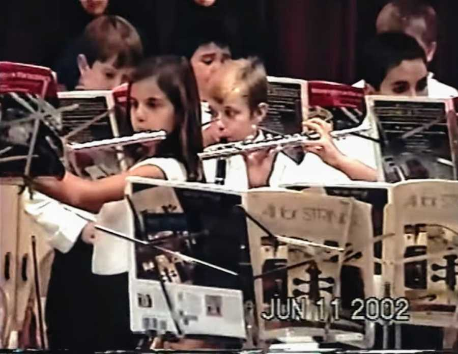 Group of young people playing instruments