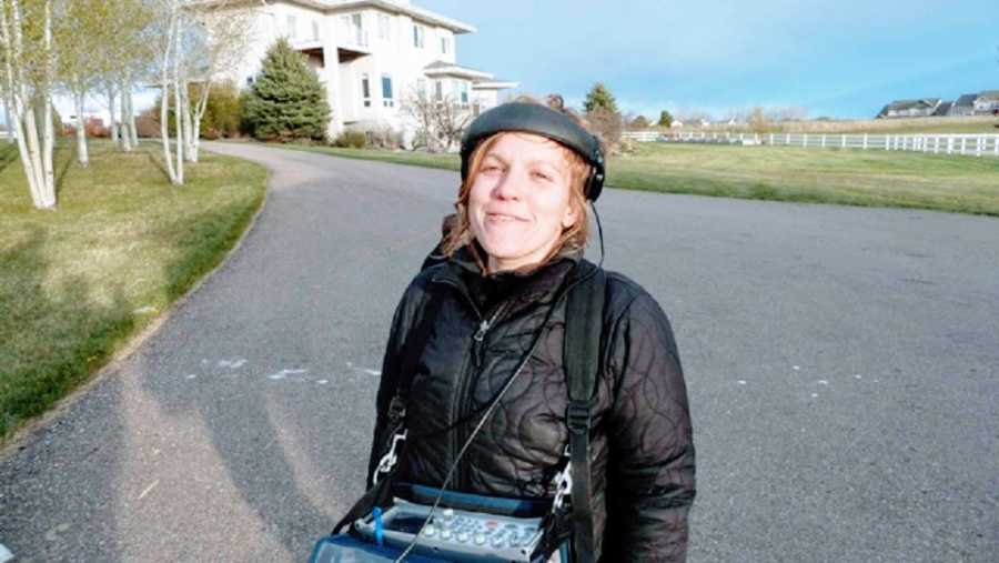 A woman with autism and ADHD working as a sound mixer