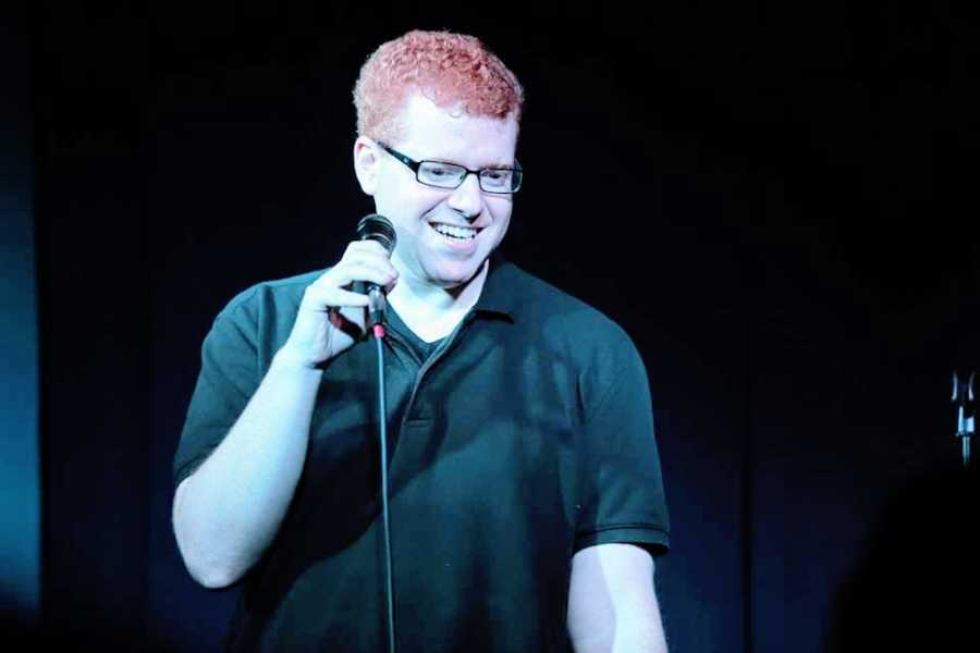 A man with social anxiety performs stand-up comedy