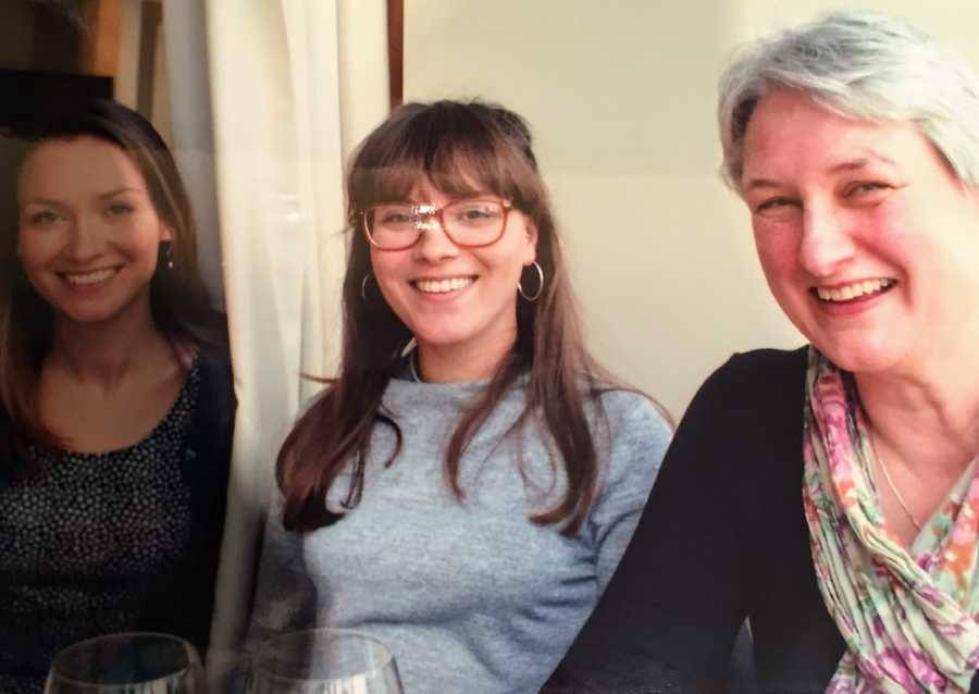 Three women taking photo together