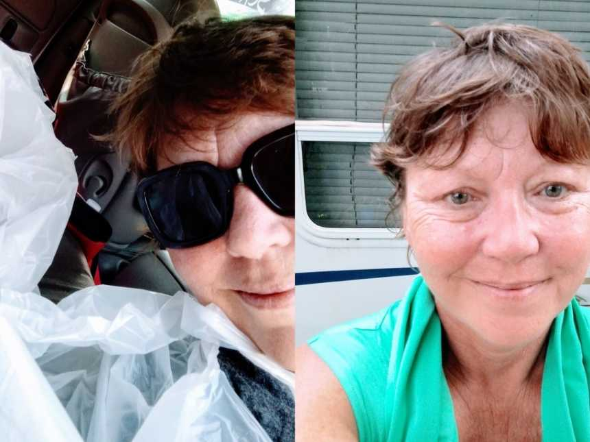 Woman shares selfies after touching act of kindness and 'revolution' in honor of homeless man