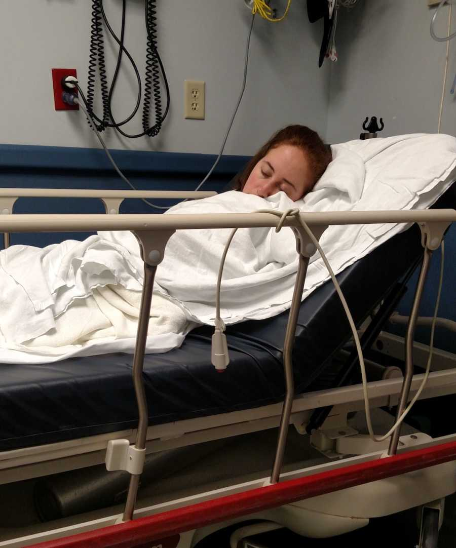woman after surgery