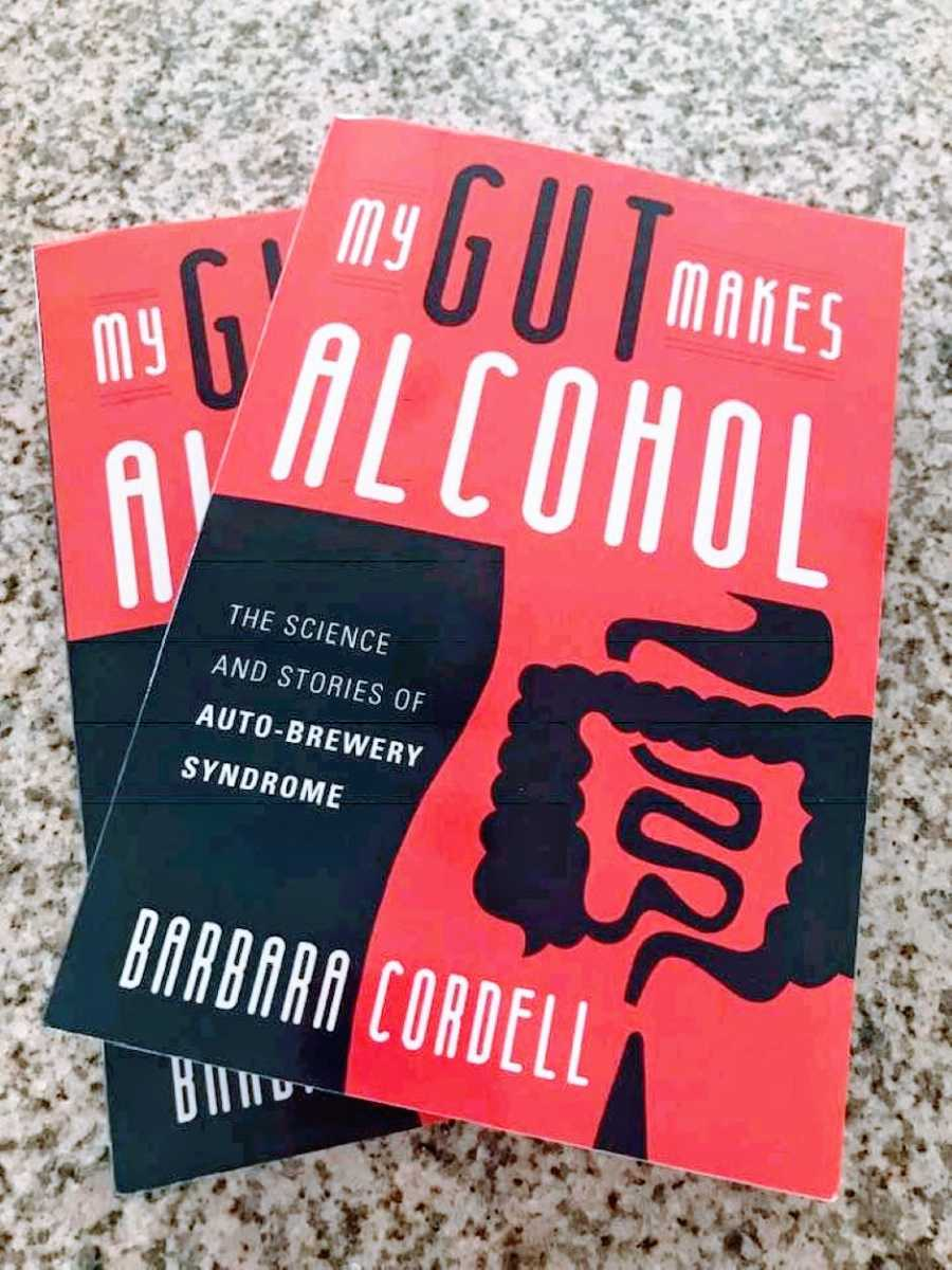 Woman shares photo of book written by Barbara Cordell called 'My Gut Makes Alcohol' to raise awareness on Auto-Brewery Syndrome