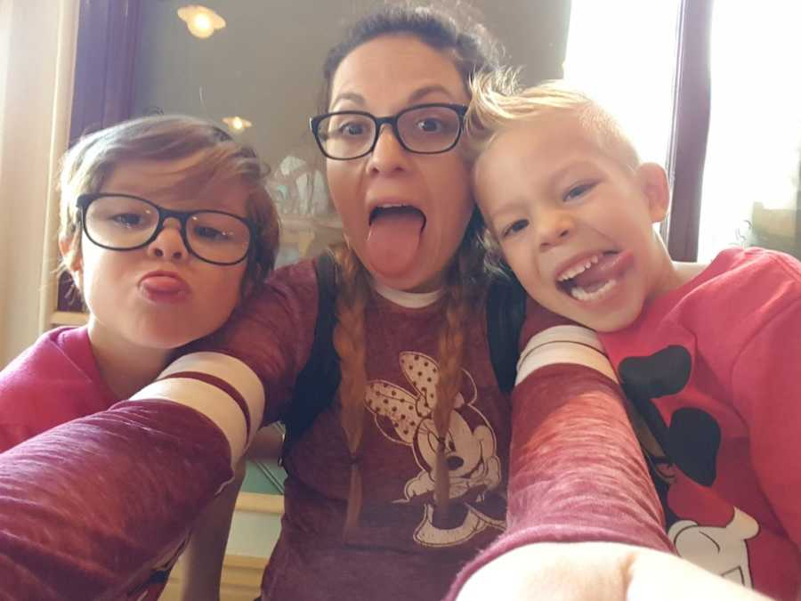 mom with twin sons
