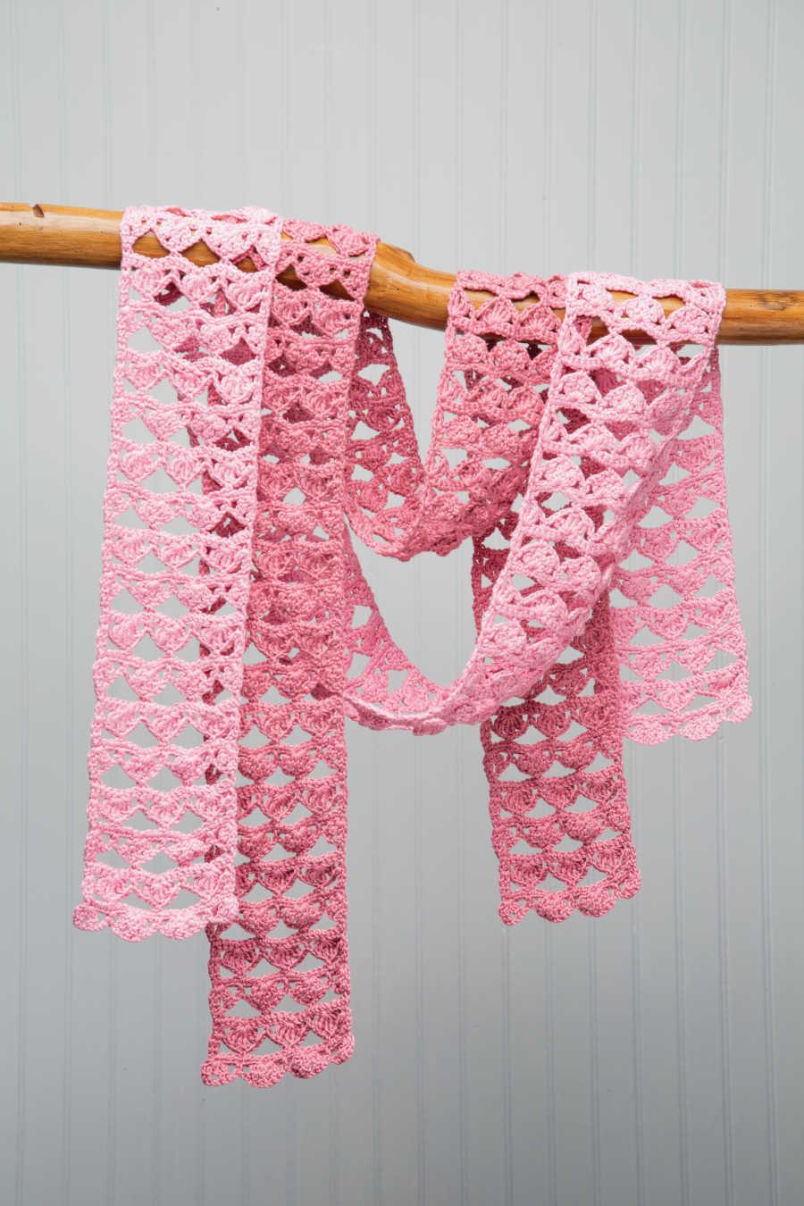 Handmade, pink scarf