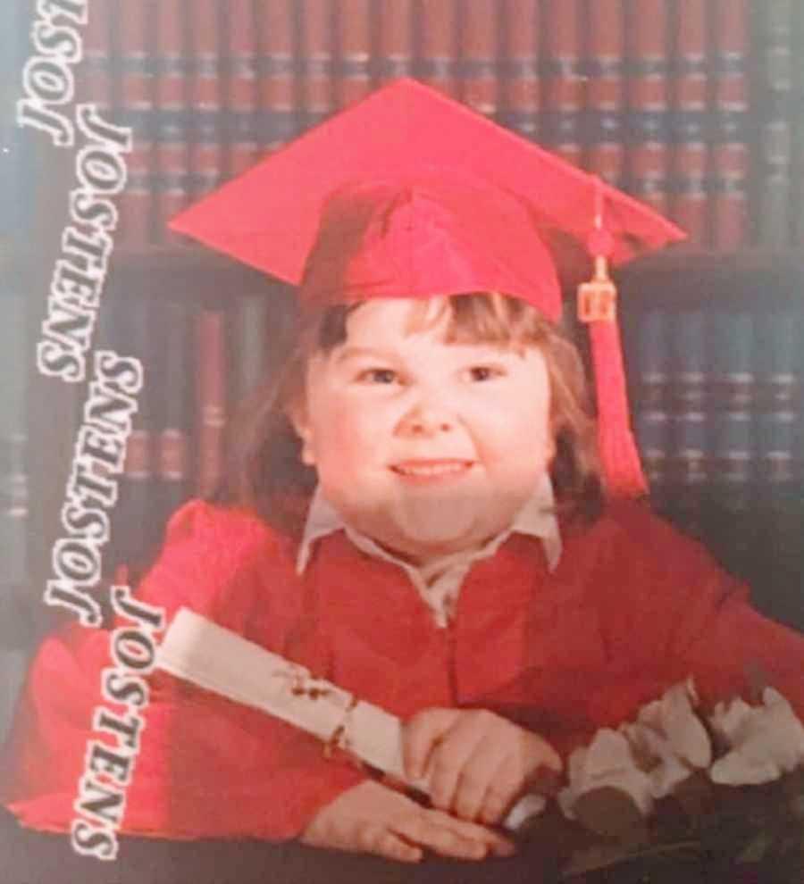 Child struggling with mental health graduates