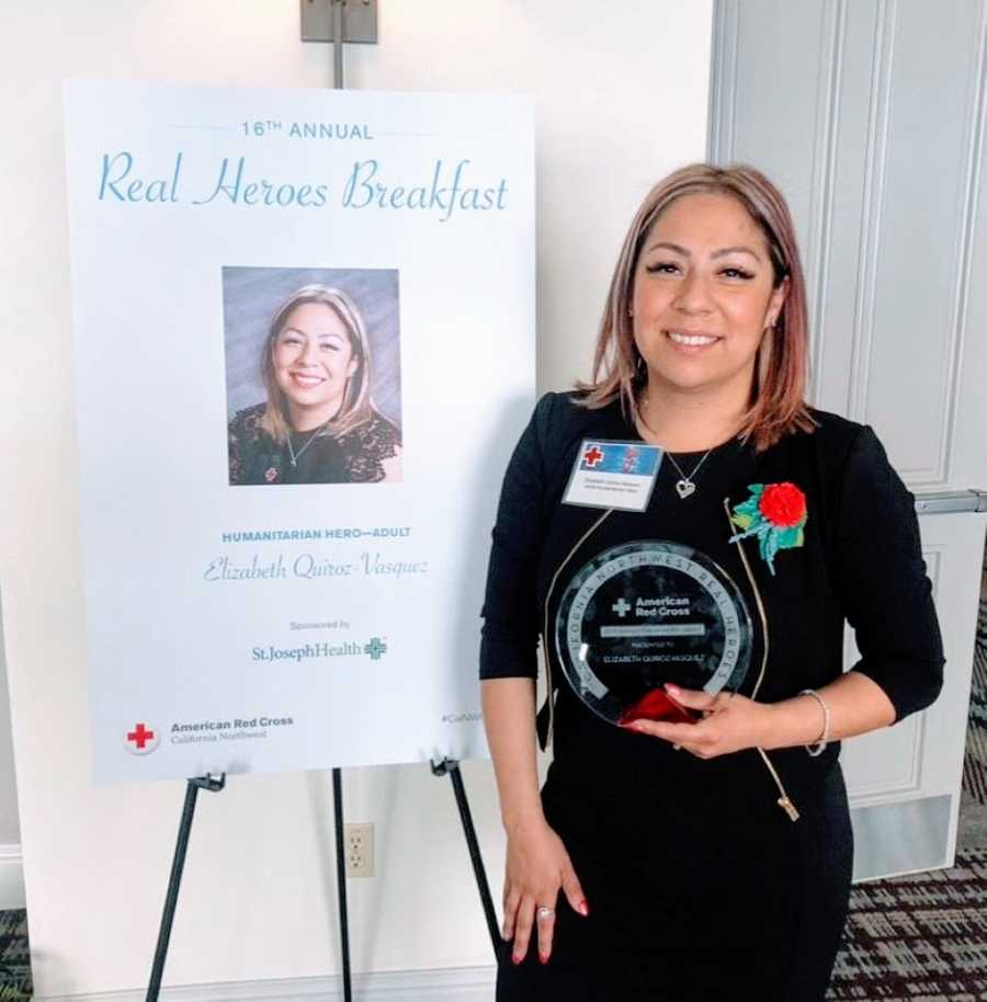 Human trafficking survivor and recovered addict wins Red Cross Humanitarian Hero award for her nonprofit work
