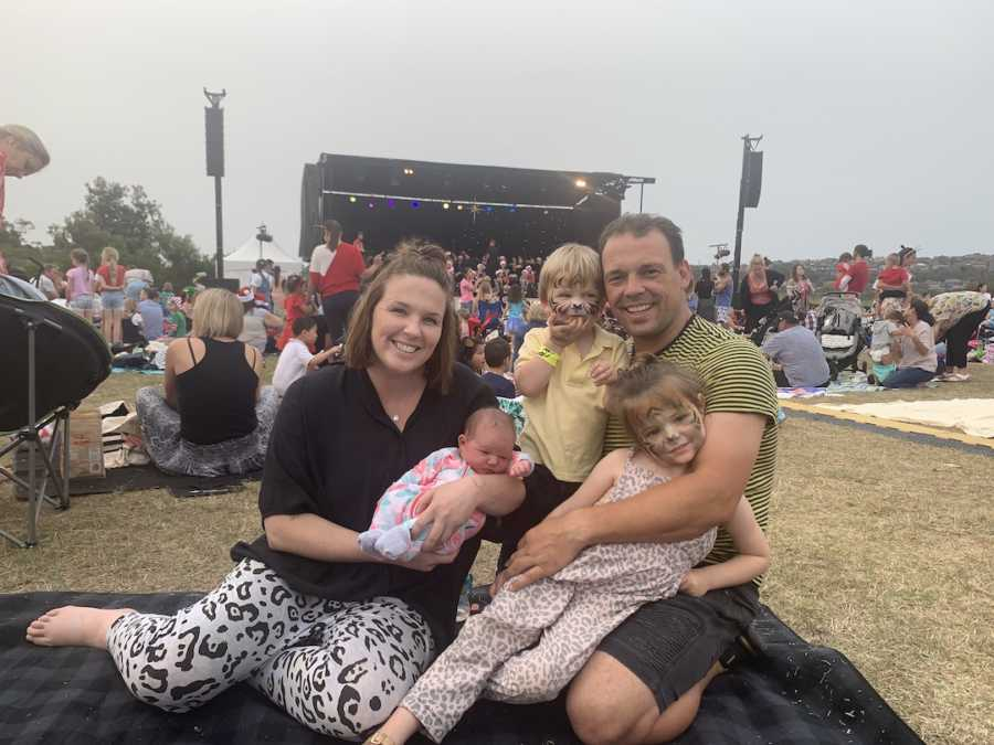 family at an outdoor festival